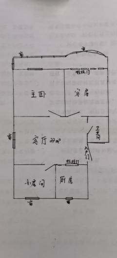 (市中心)富民新村3室1厅1卫2600元/月97m²简单装修出租